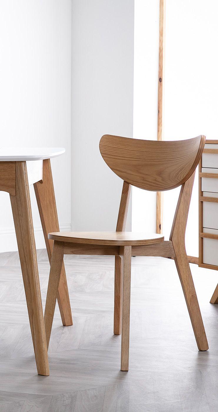 Chaises Scandinaves Finition Chene Lot De 2 Leena Miliboo En 2020 Chaise Design Mobilier De Salon Decoration Maison