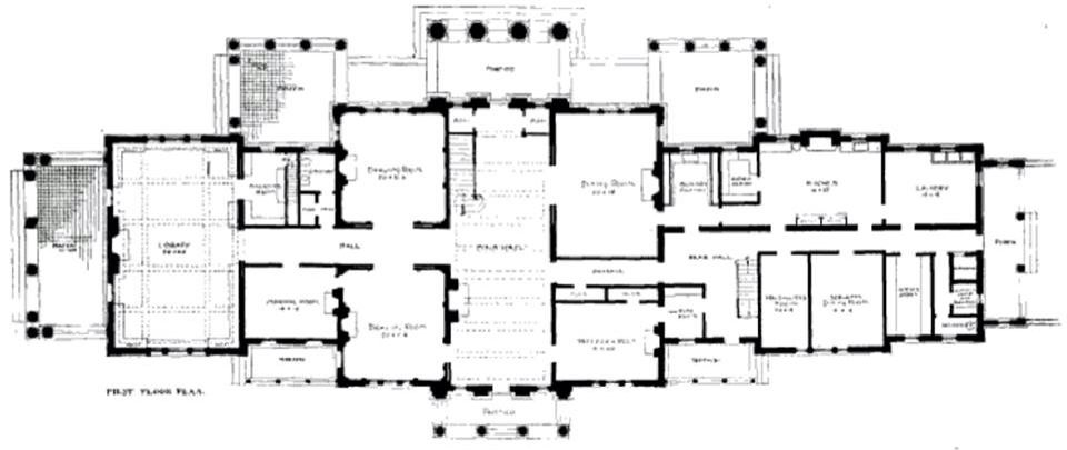Blithewood 1st Floor Vintage House Plans House Floor Plans Apartment Floor Plans