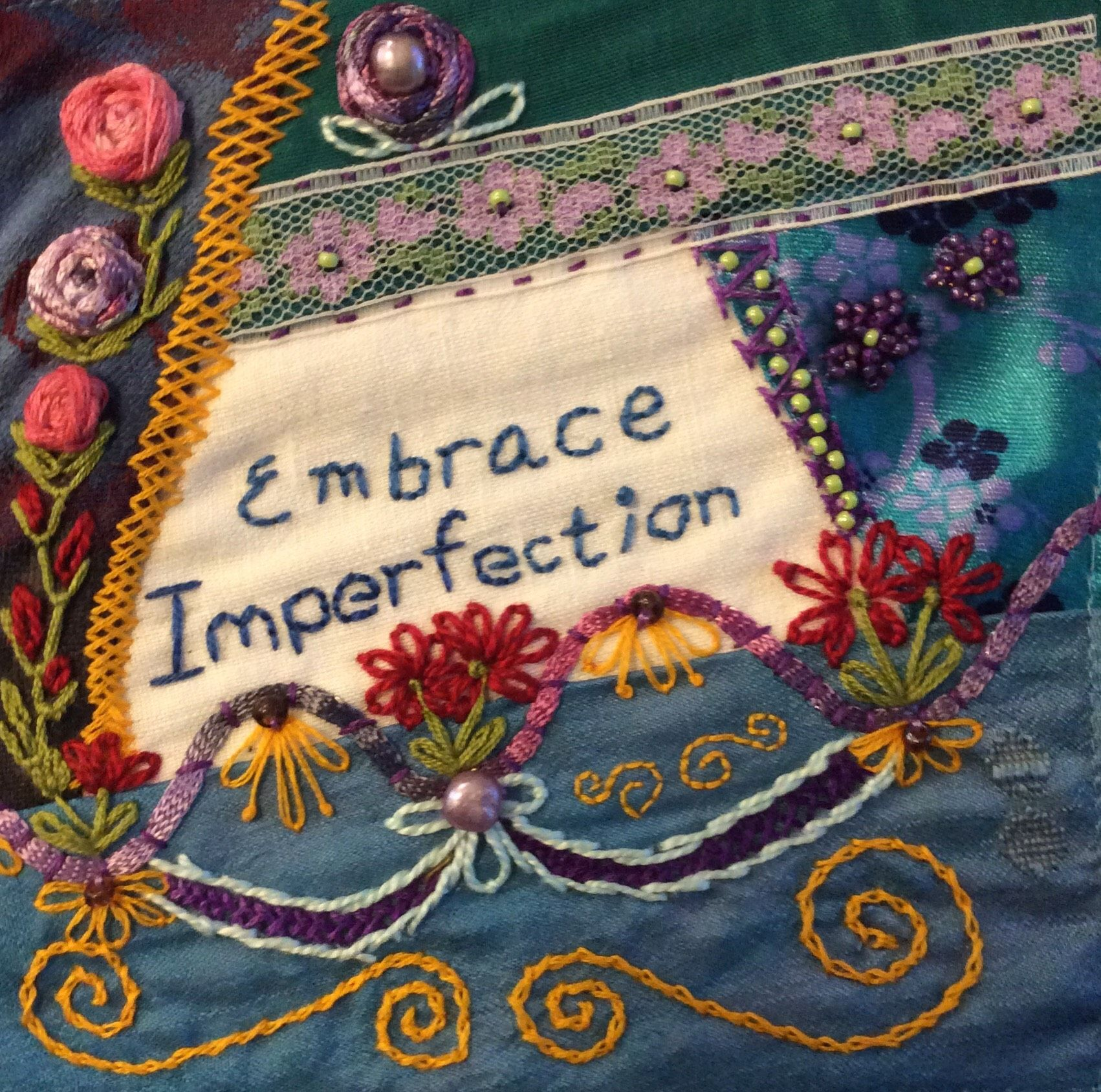 Hand Stitched By Dale Walker Crazy Patchwork Pinterest Hand