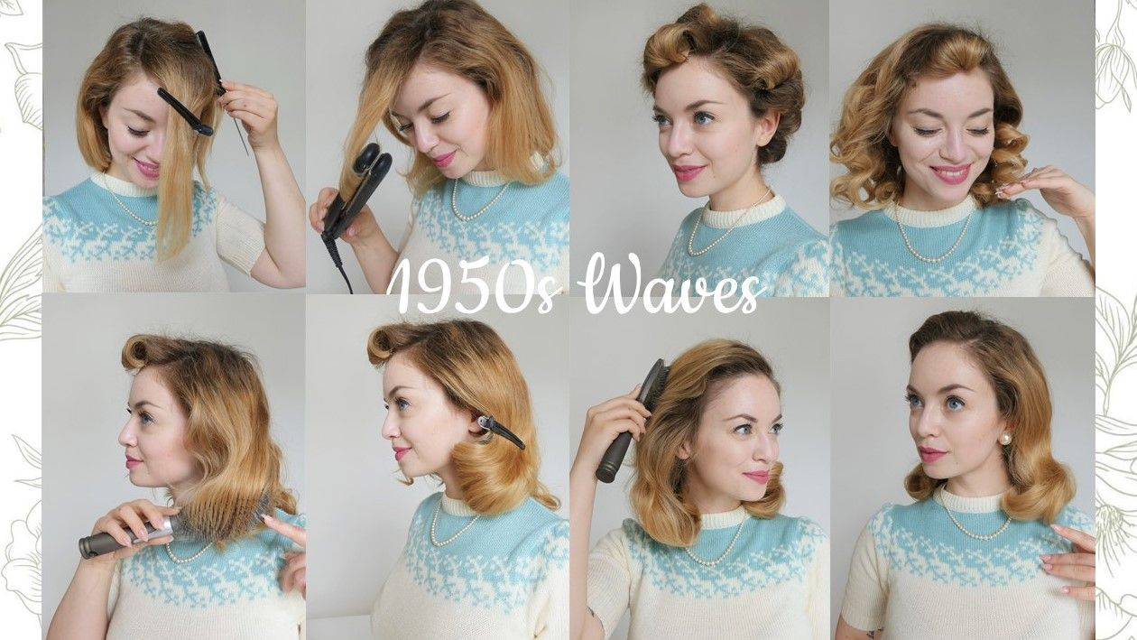 Easy Tutorial How To Do A Vintage 1950s Hairstyle Inspired By Grace Kelly And Old Hollywood Looks Vintage Frisuren Anleitung Grace Kelly Frisur Hochgesteckt