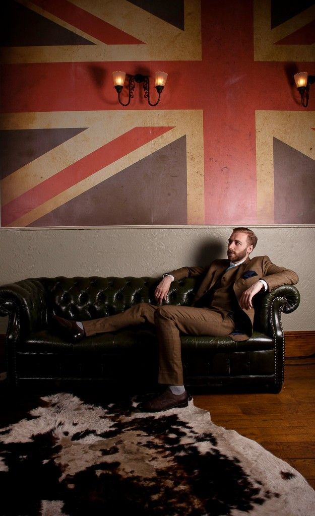 King and Allen Bespoke Tailoring 2012. Union Jack wall painting. Jamie Baker Photography.