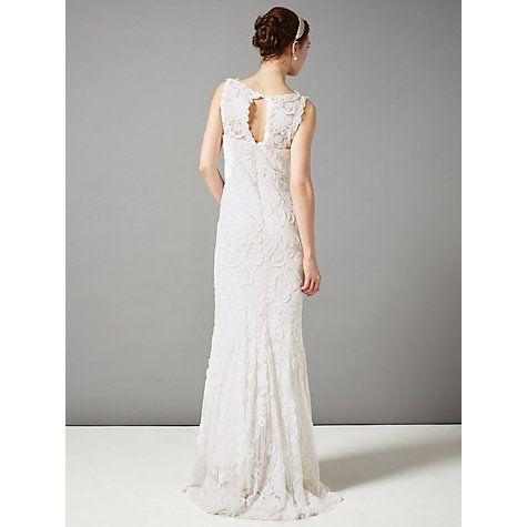 san francisco hot sale online autumn shoes Phase Eight Bridal Kiera Tapework Wedding Dress, Cream ...
