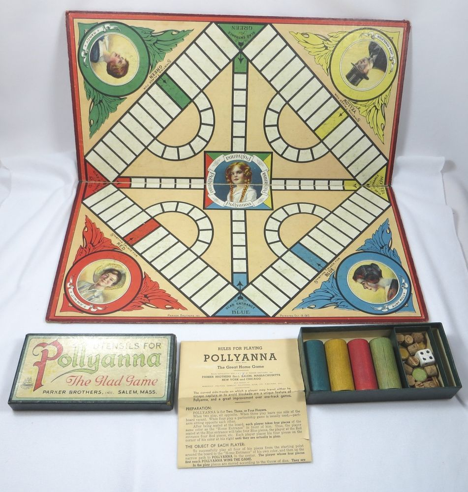 Antique 1915 PARKER BROTHERS POLLYANNA THE GLAD Board GAME