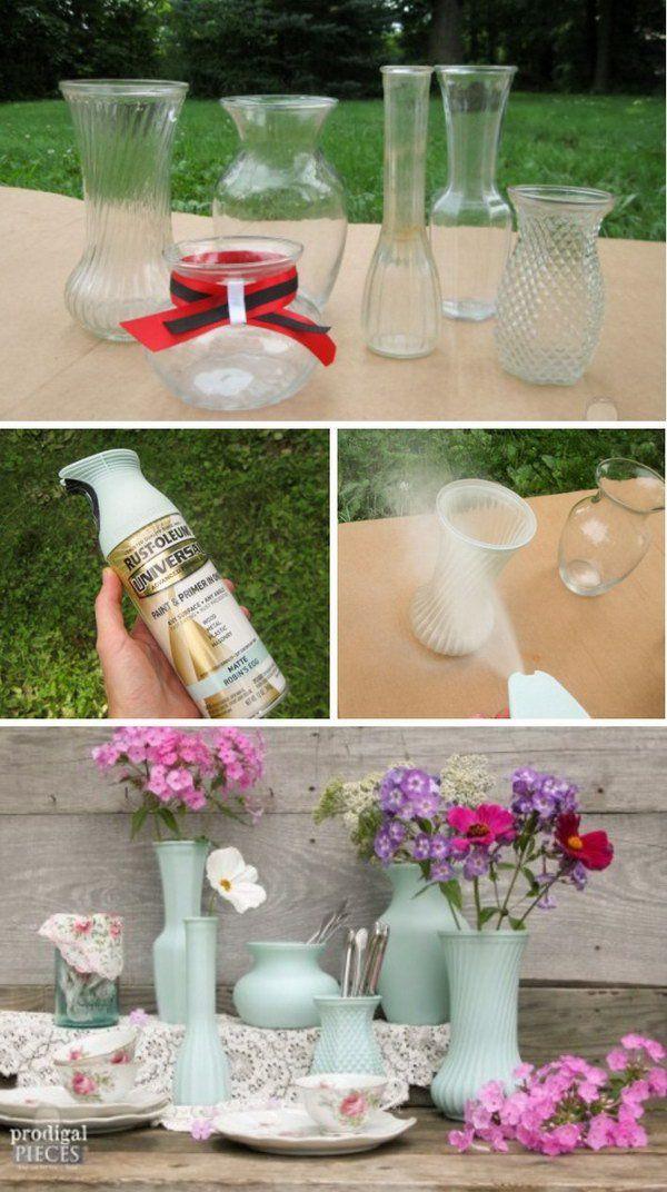 DIY Thrift Store Glass Vase Projects Pinterest Thrift, Glass