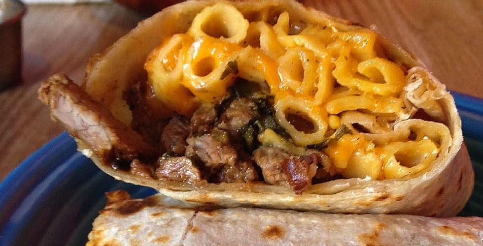 Behold the onedayonly mac cheese burrito the bold