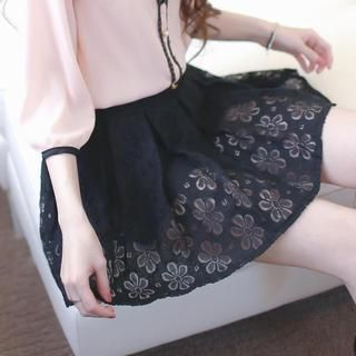 Buy 'Tokyo Fashion – Lace Pleated Skort' with Free International Shipping at YesStyle.com. Browse and shop for thousands of Asian fashion items from Taiwan and more!