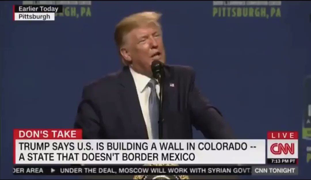 Alexander Verbeek On Twitter Now Trump Is Building Another Wall In Colorado To Keep New Mexicans Out Edgy Memes Best Funny Pictures Cnn Anchors