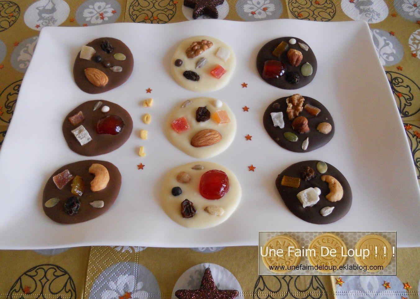 Mendiants aux 3 chocolats  http://unefaimdeloup.eklablog.com/mendiants-aux-3-chocolats-a29080642