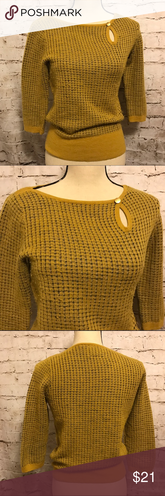 Anthropologie Sweater EDIE Yellow Gold Gorgeous | Shops, Beautiful ...