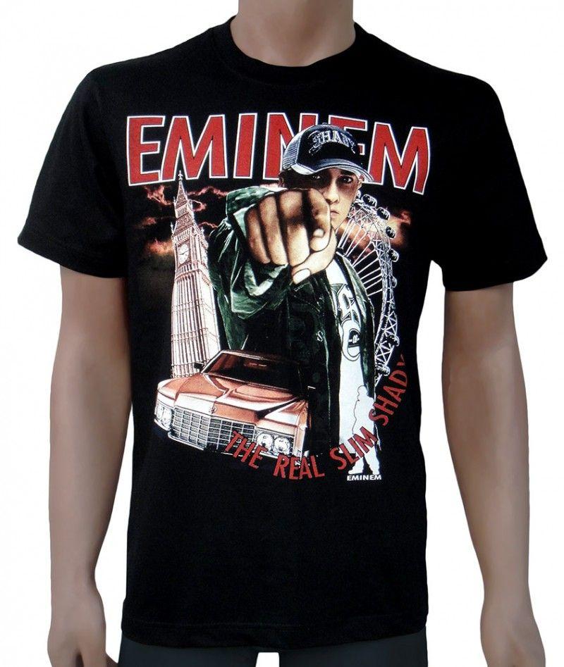 Eminem Damen Mic Pose Sweatshirt Small Schwarz: Bekleidung