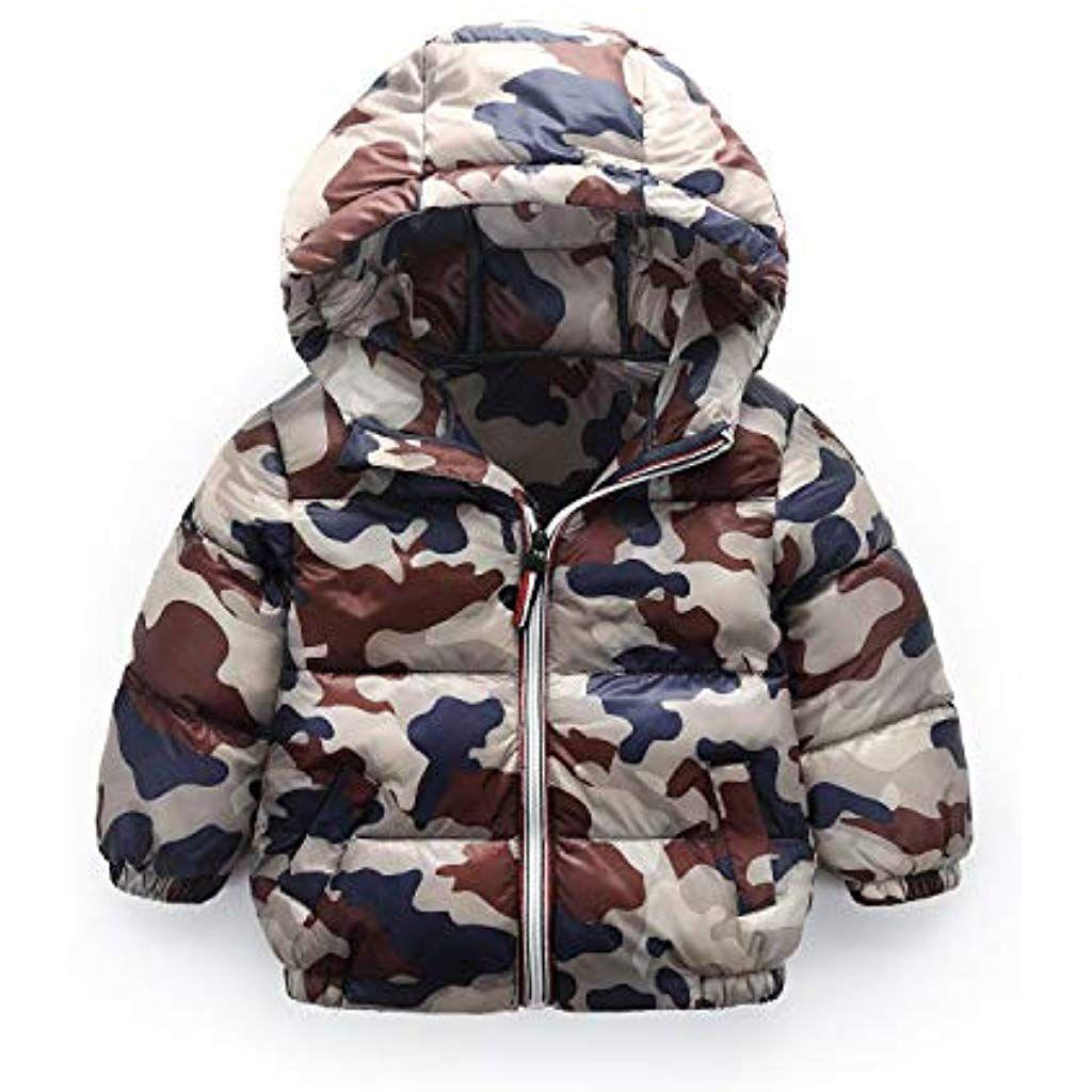 Kids Fille Manteau Blouson Coupe-Vent Hiver Enfants Camouflage Outwear