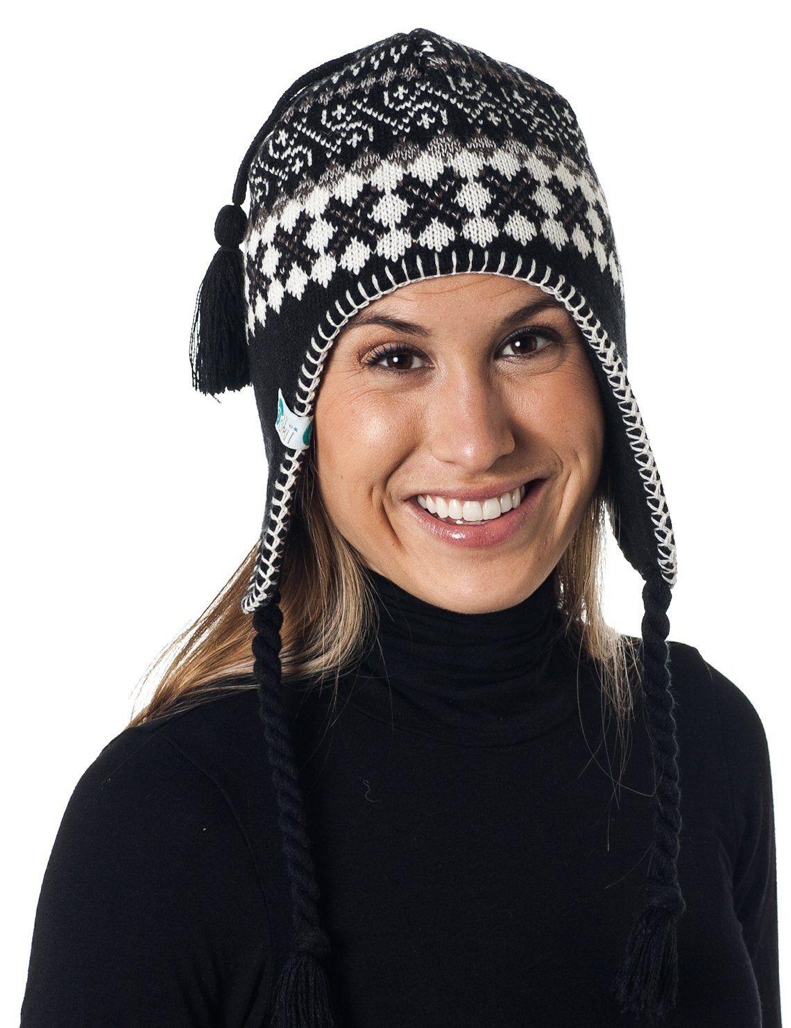 95b8c2ac0fc90 Alki i Braided Aviator womens warm beanie snowboarding winter snow hats - 5  colors ( 9.99)
