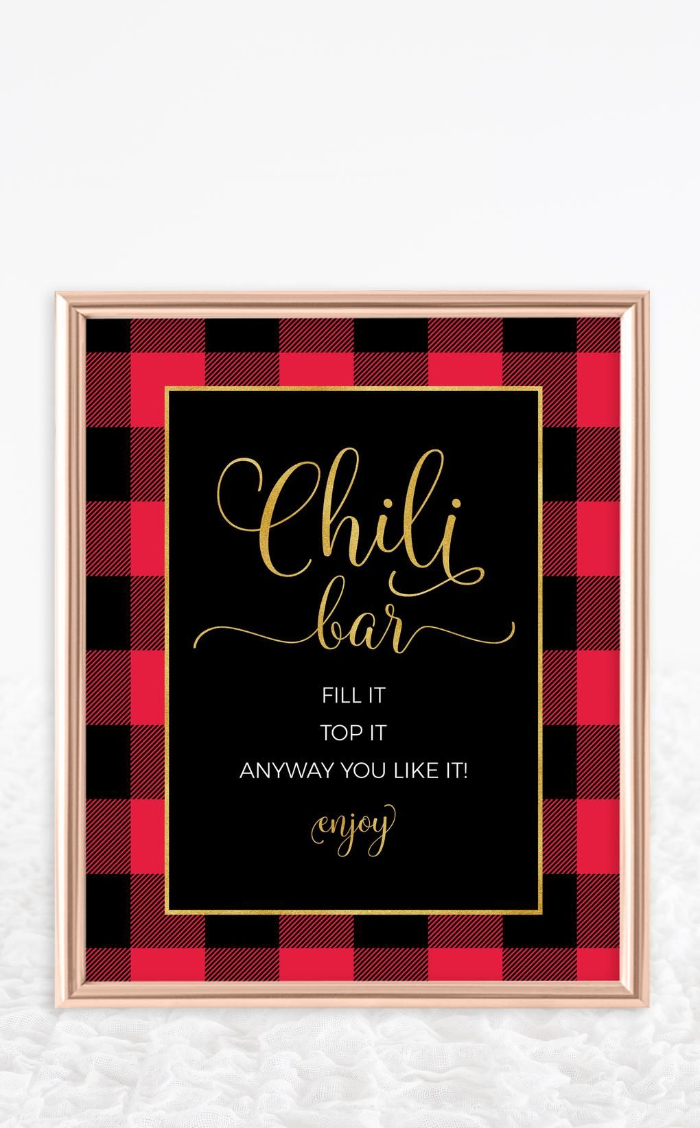 Flannel Chili Bar Kit #chilibar