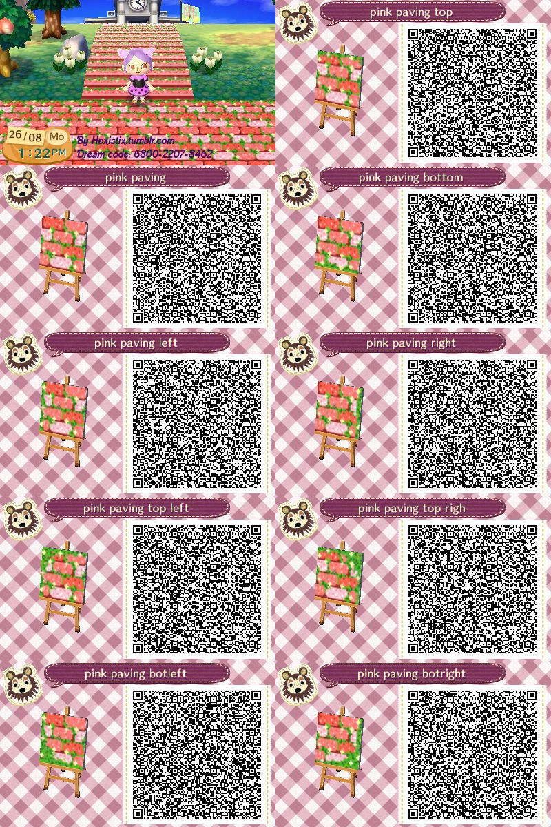 Animal crossing new leaf hhd qr code paths photo Boden qr codes animal crossing new leaf