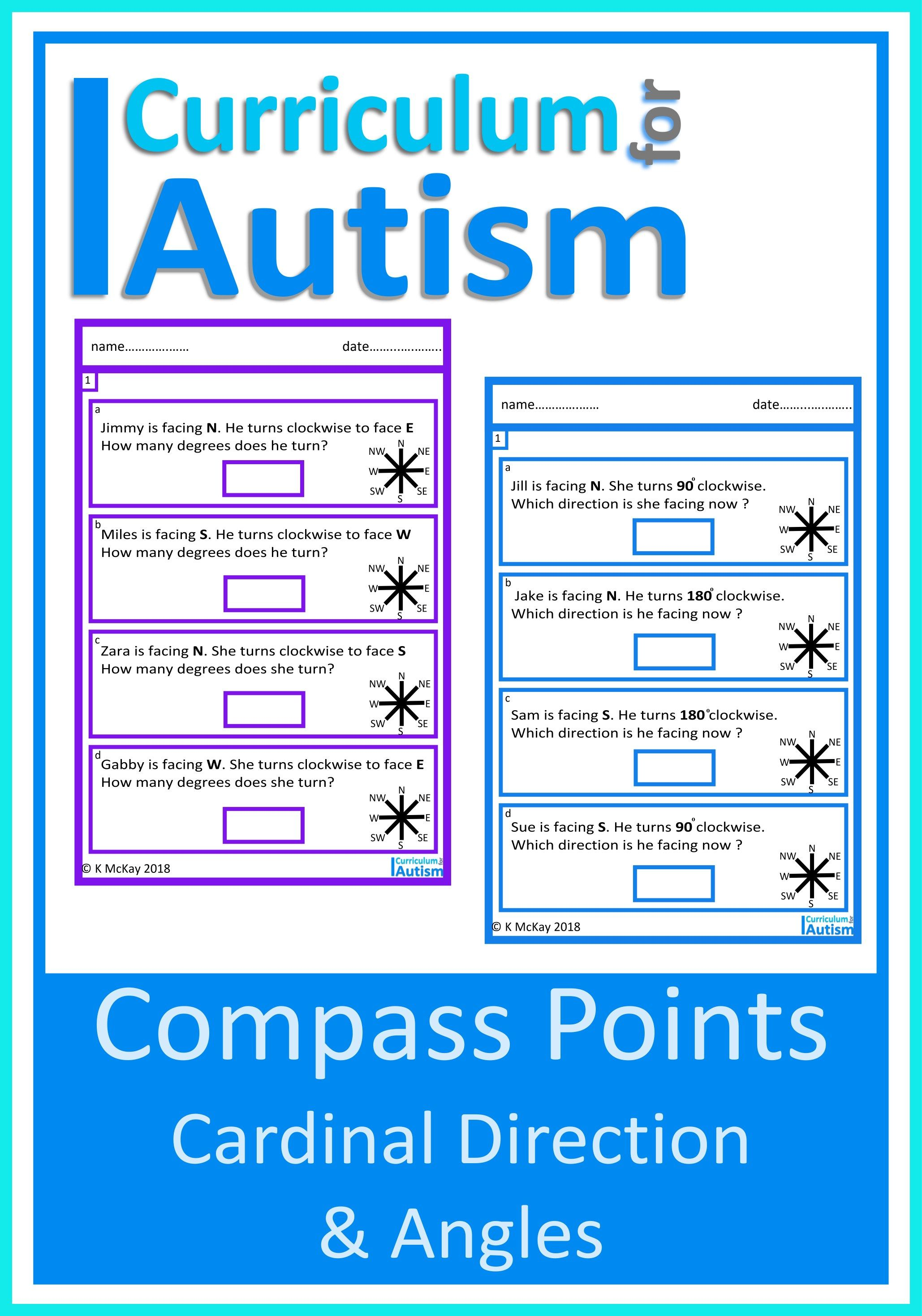 Cardinal Directions Compass Points Amp Angles Worksheets
