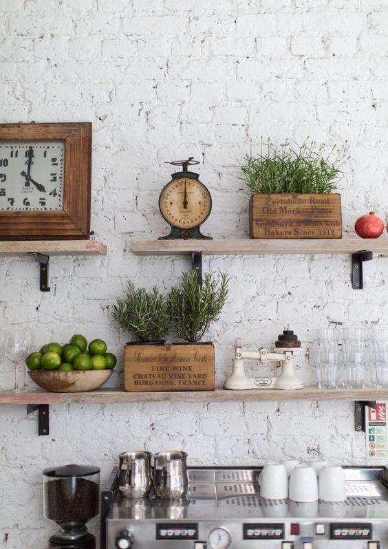 Mensole Cucina Legno.Cucina Mensole In Legno Case Stile Vintage Home Decor
