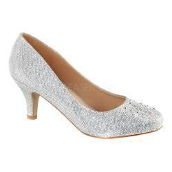 e2ca4ffe8 Shop for Women s Fabulicious Doris 06 Pump Silver Glitter Mesh Fabric. Free  Shipping on orders