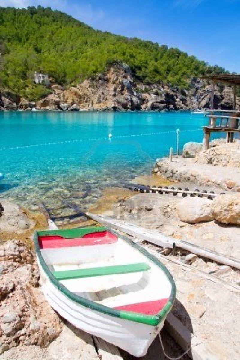 Ibiza port de benirras beach with turquoise mediterranean sea en 2019 holiday pinterest - Piscinas de arena com ...