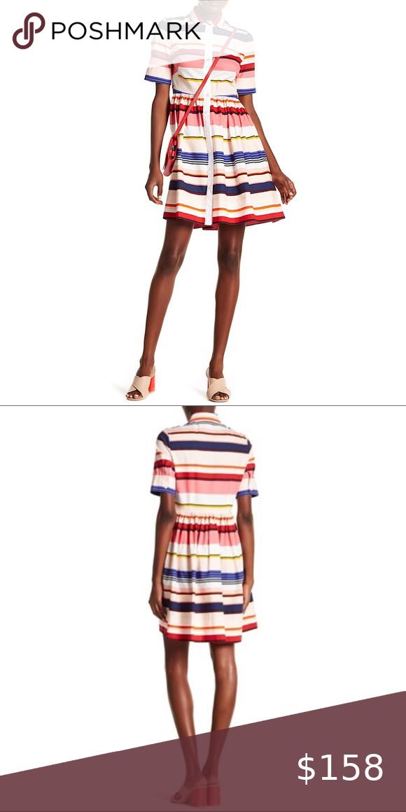 KATE SPADE | Berber Multi Color Striped Shirtdress