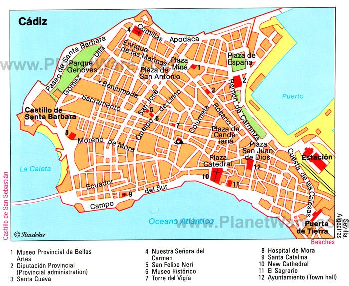 Cdiz Map Tourist Attractions kadyks Pinterest Cadiz and 10 top