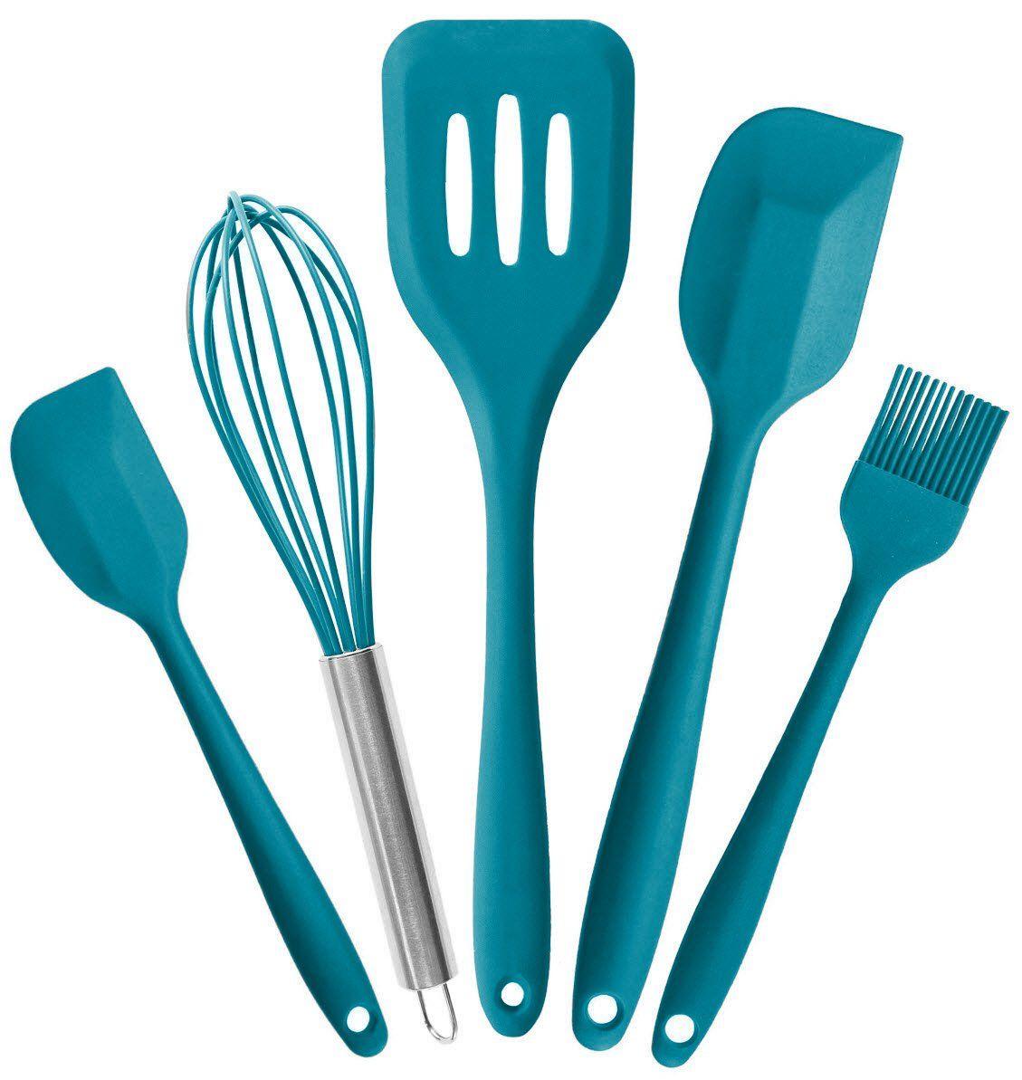 StarPack Premium Silicone Kitchen Utensils Set (5 Piece) in Hygienic ...
