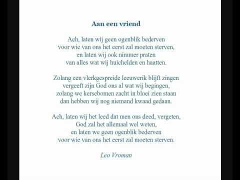 Leo Vroman Gedicht Aan Een Vriend Gedichten En Leo