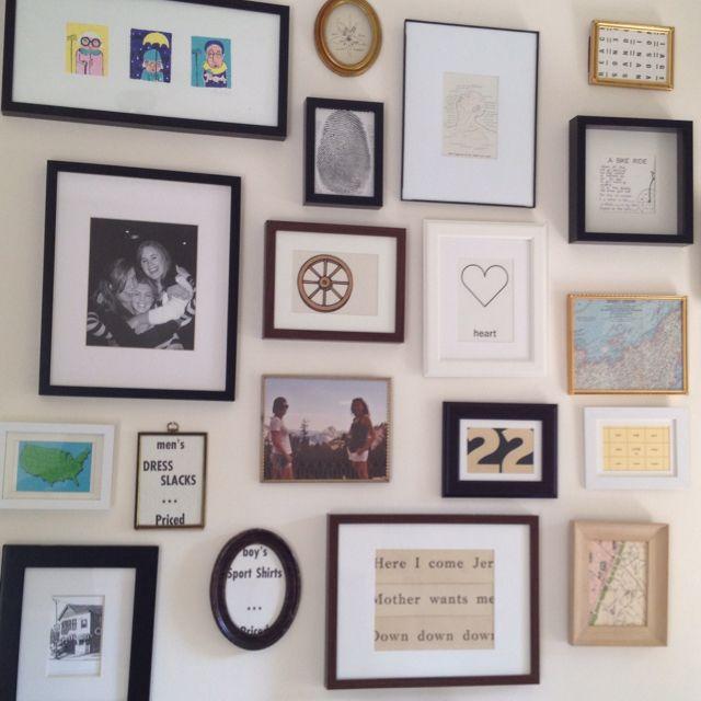 My friend lexi's bedroom gallery wall