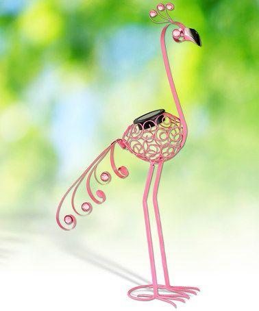 Exhart 28u0027u0027 Pink Solar Flamingo Garden Statue