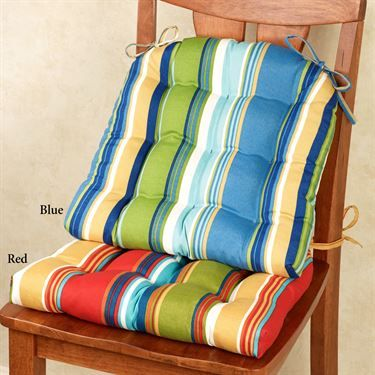 Westport Striped Indoor Outdoor Chair Cushion Indoor Outdoor Chair Dining Chair Pads Outdoor Chair Cushions