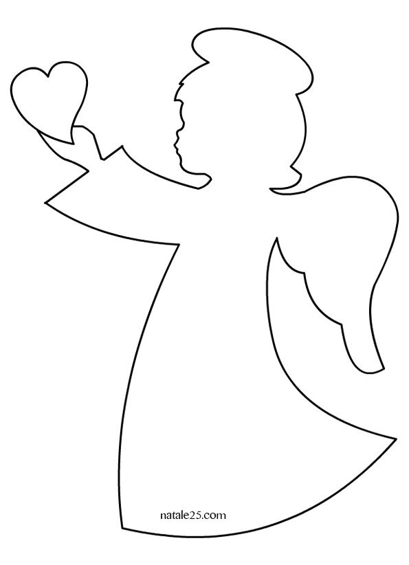 Angioletti cuore cucito creativo natale pinterest for Immagini da colorare angeli