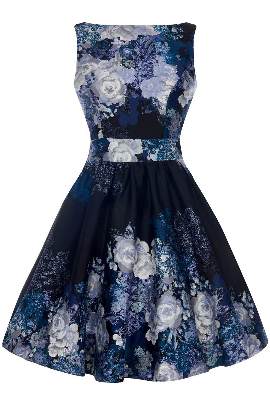 Pretty kitty black white queen anne dress dresses pinterest