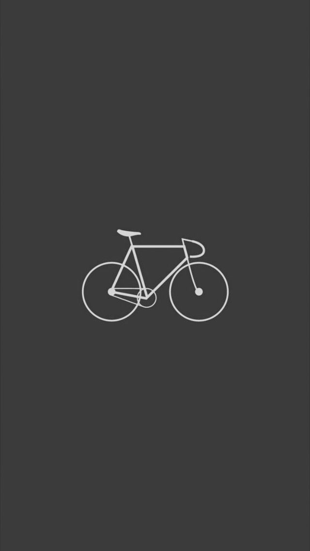 Black And White Iphone Wallpaper For Bike Lovers Minimalist Iphone Iphone Wallpaper Hipster Bike Drawing Wallpaper hd for mobile bicycle