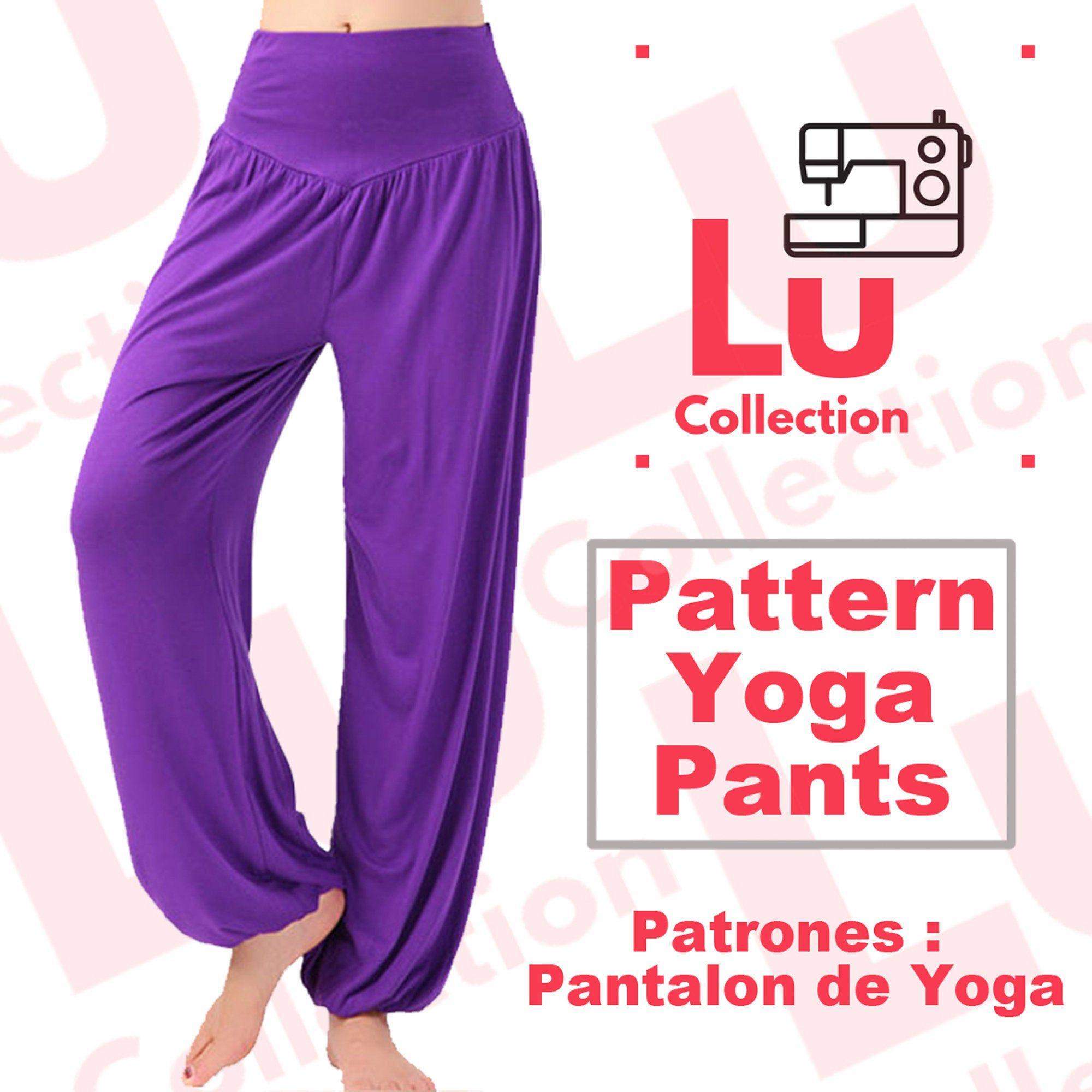Patron Pants For Yoga Women Sewing Pattern Printable Pattern Pdf Pattern Pack Sizes S M L Immediate Download Free Shipping Yoga Women Yoga Sewing