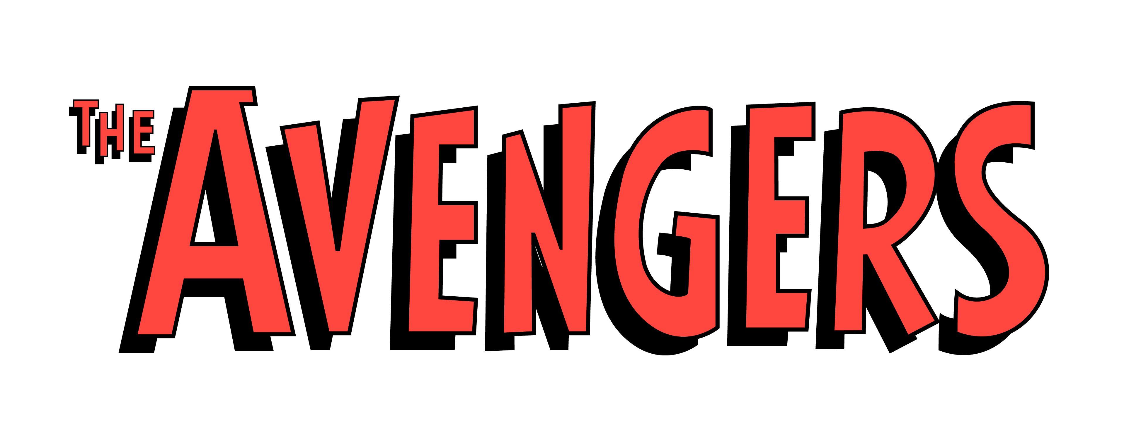 classic avengers logo Comic illustration, Marvel comics