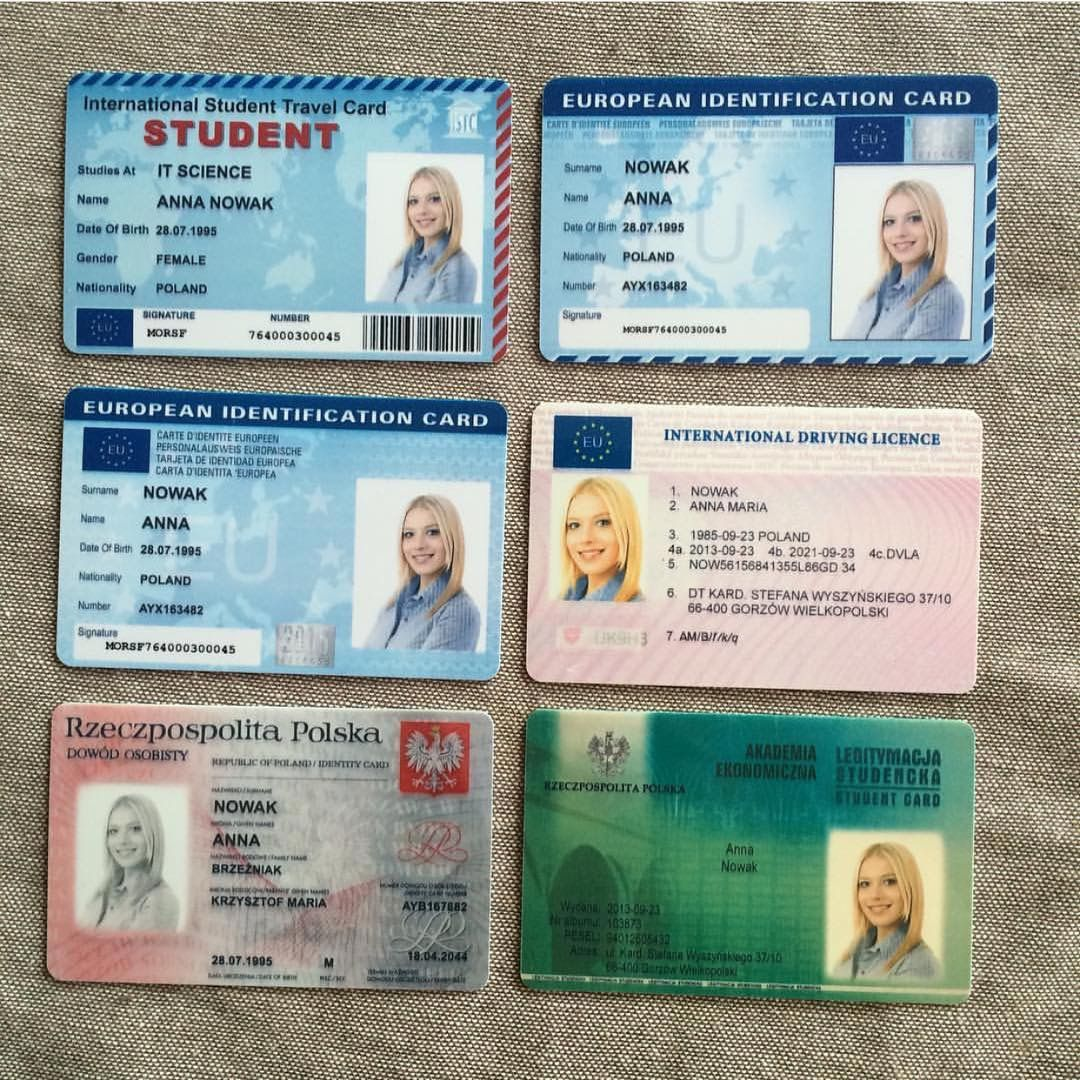 Driving licence Passport