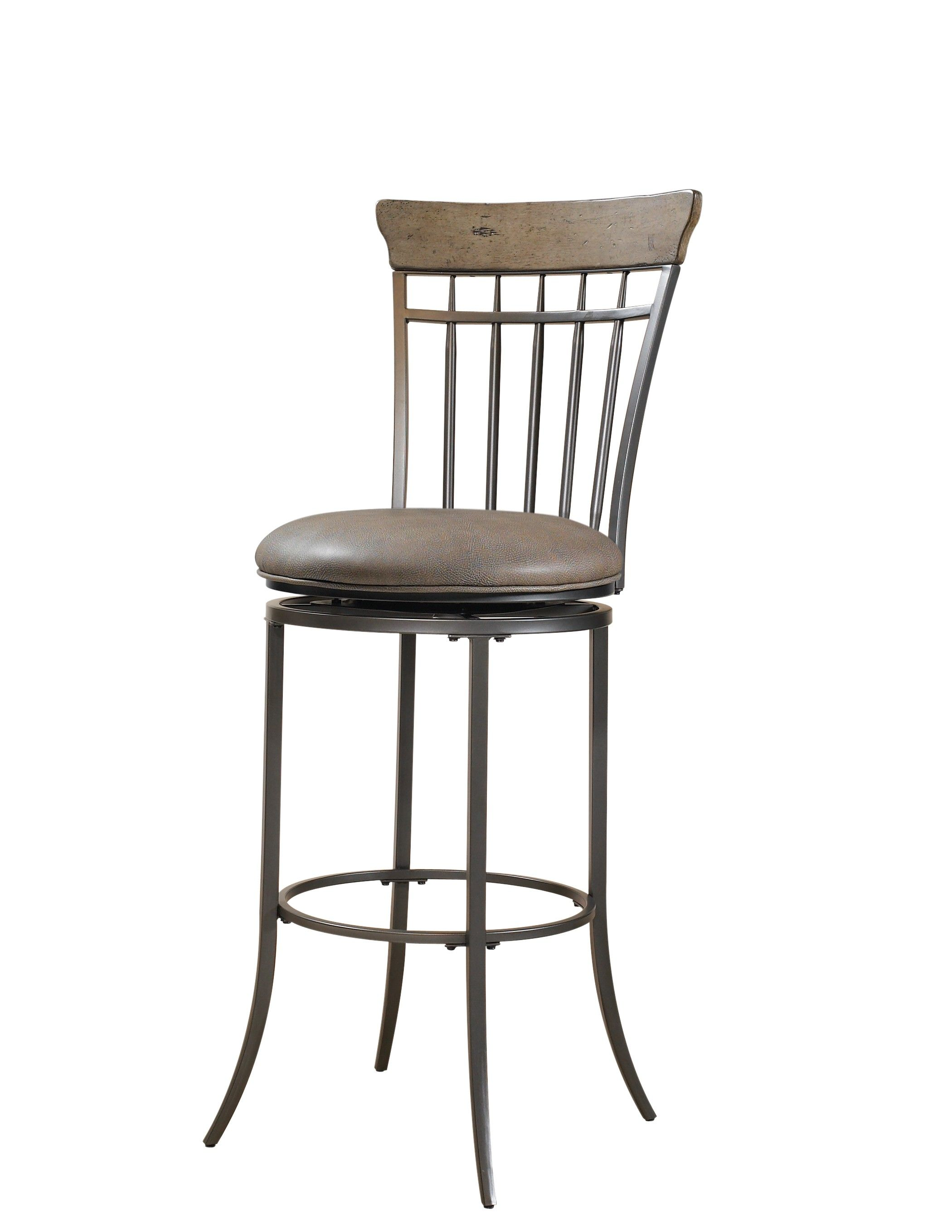 Charleston Desert Tan & Dark Gray Swivel Vertical Spindle Bar