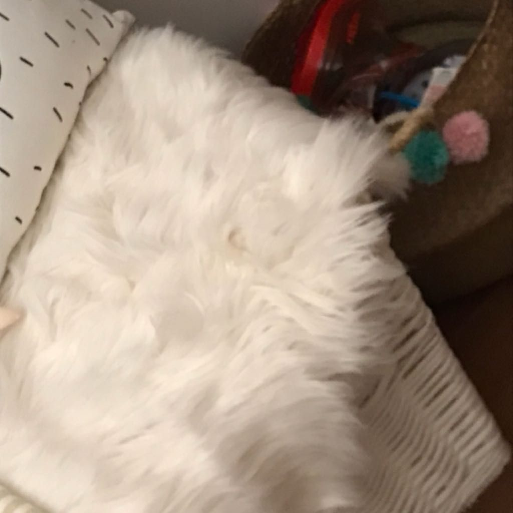 Tapis fausse fourrure blanche | @giftryapp | My Wantlist | Pinterest