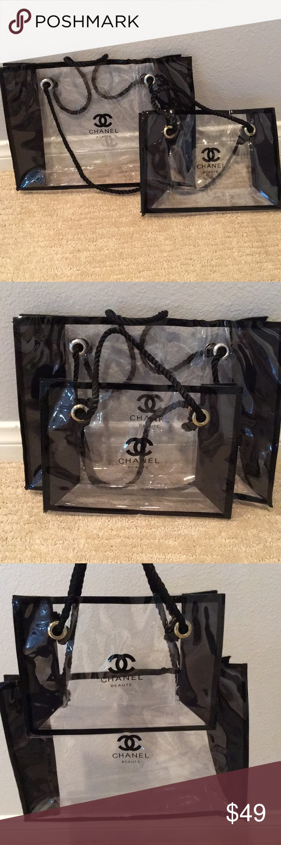 Chanel Beauty perfume makeup Tote bag set This is VIP gift