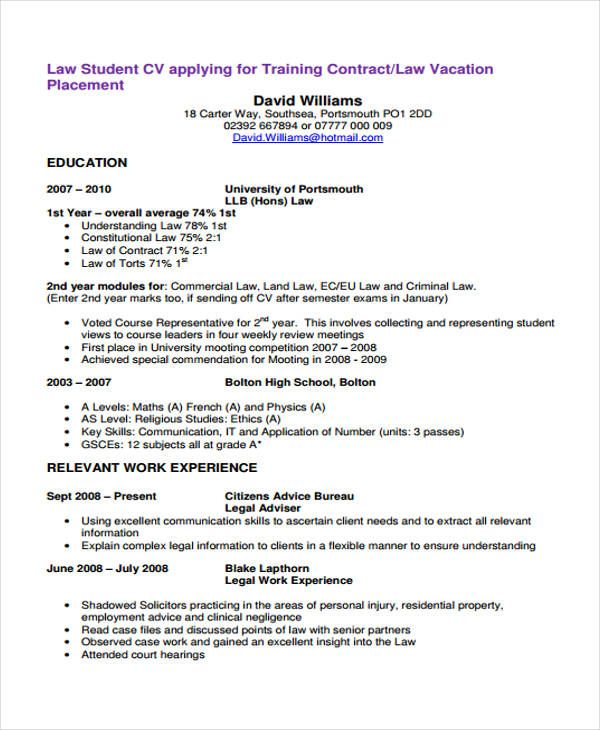 Cv Template Law Modelos De Curriculum Vitae Curriculum Vitae