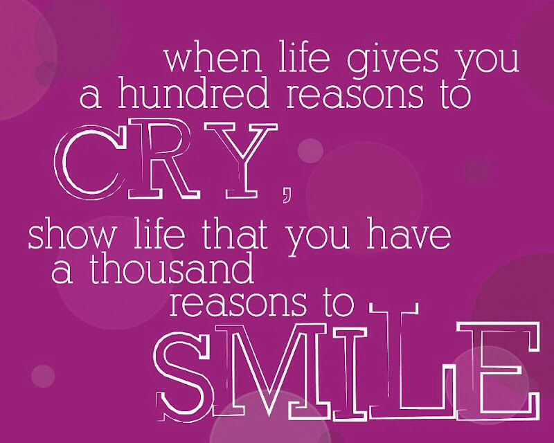 Smile don't cry