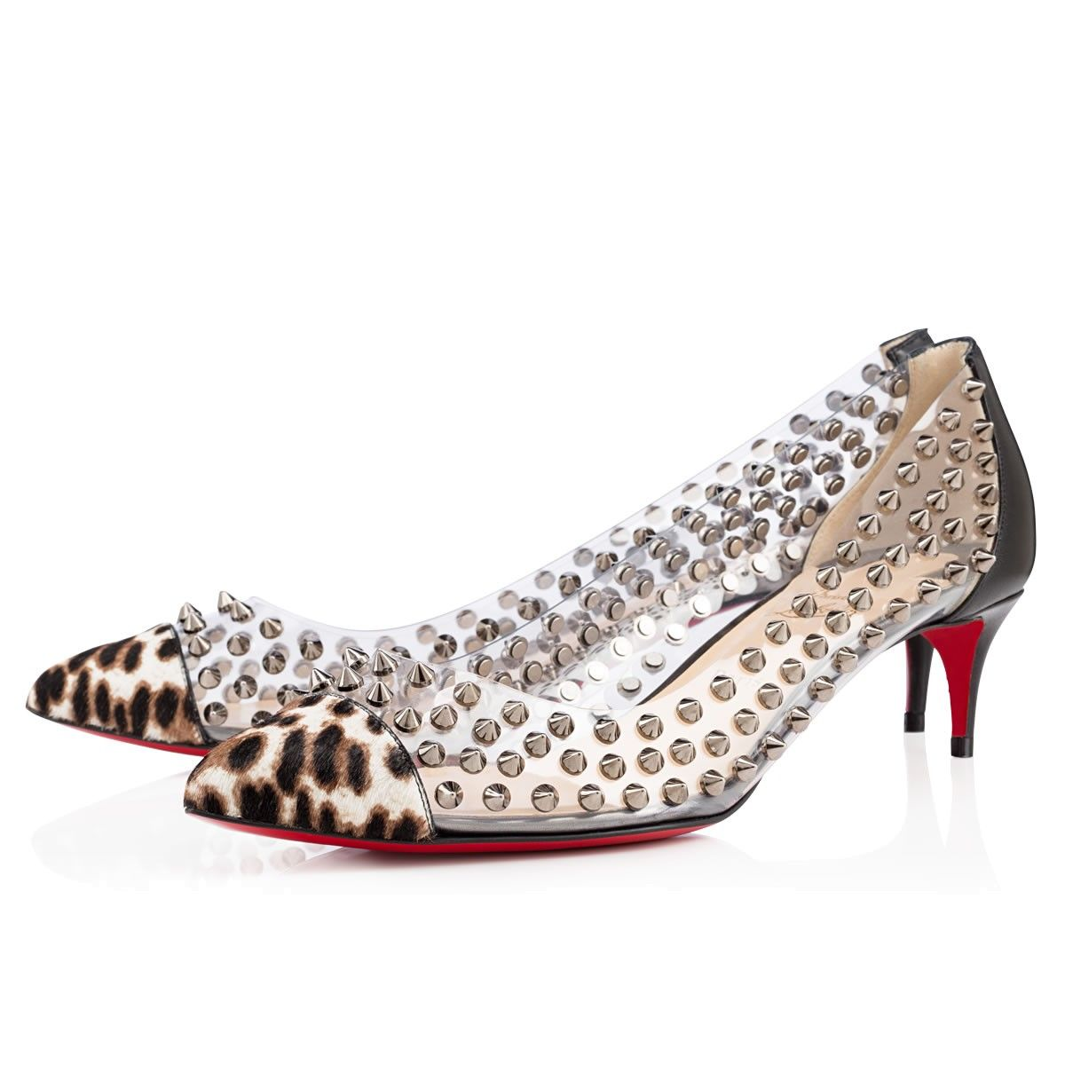 christian louboutin gold studded shoes