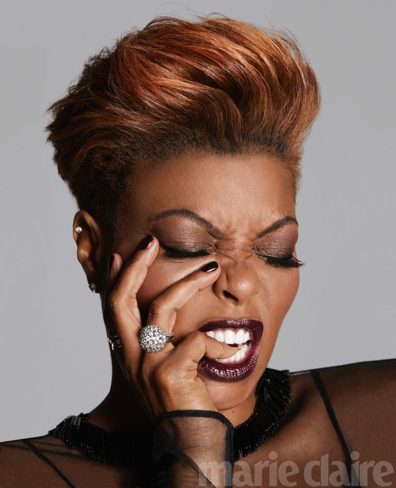taraji p. henson shows off a short hairstyle in marie claire