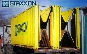 2 Staxxon Doblado / Prototipos anidados en un contenedor ISO Chasis