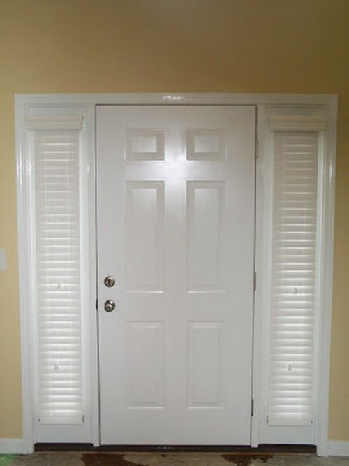 2 Sidelight Wood Blinds Woods Window And Front Doors