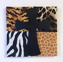 Animal Print Cross Frame