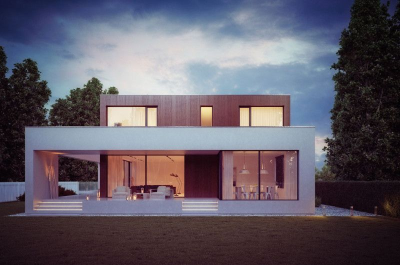 Modern Wooden Cube House By 81.WAW.PL