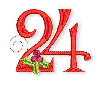 24. dezember - weihnachten   maschinenstickmuster, nähen weihnachten und stickmuster kostenlos