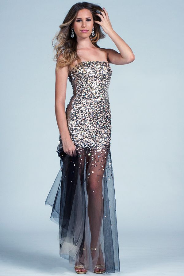 Trend Alert Prom Pageant Dresses with Sheer Bottom  799bf95fe61e