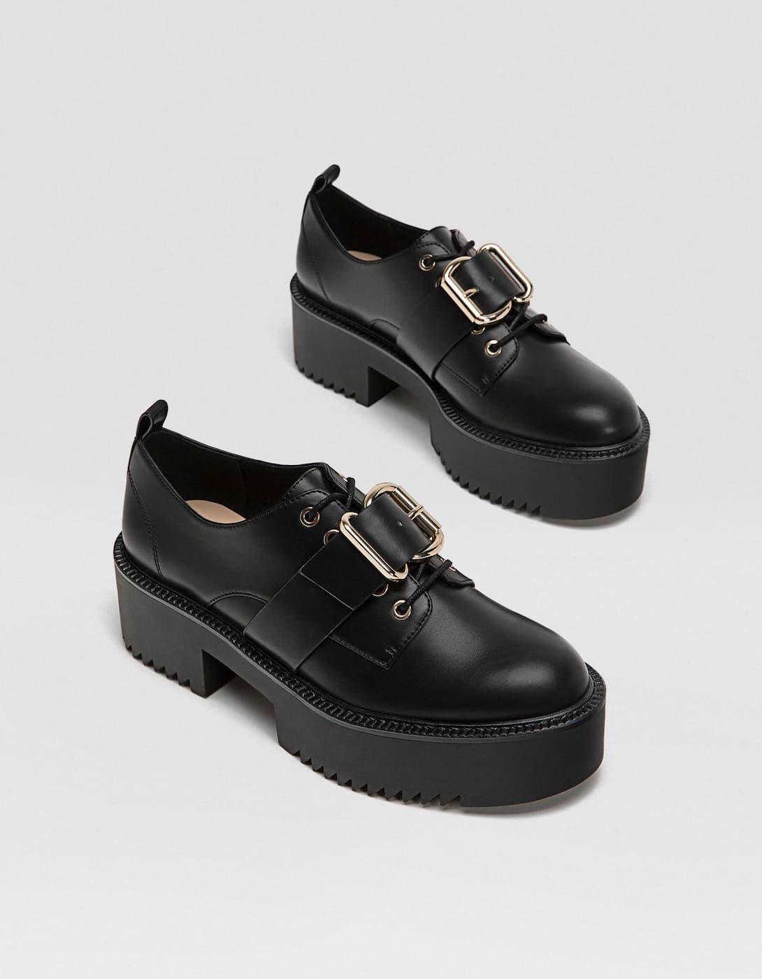 1a96df8322 Zapato blucher hebilla negro - Todos de mujer