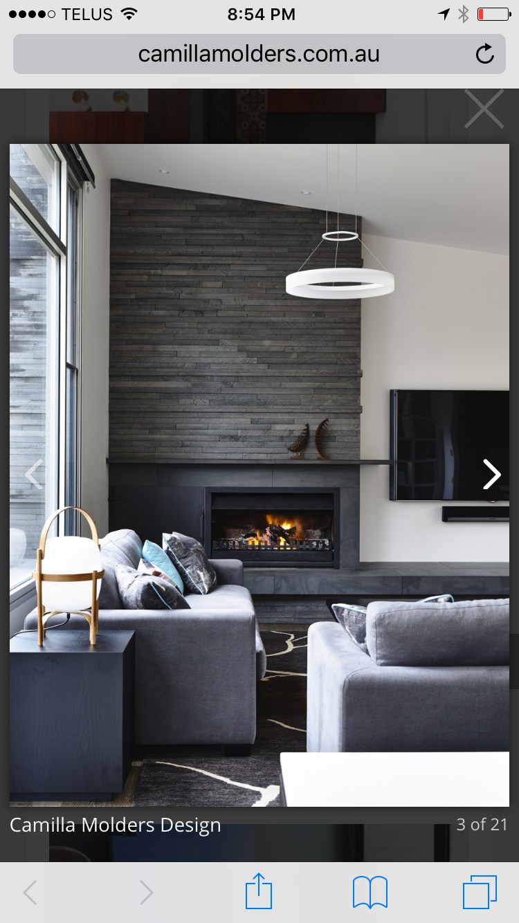 For The Home Living Room Fireplace Design